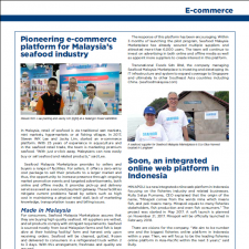 Pioneering e-commerce platform for Malaysia's seafood industry by Aqua Culture Asia Pacific Magazine.