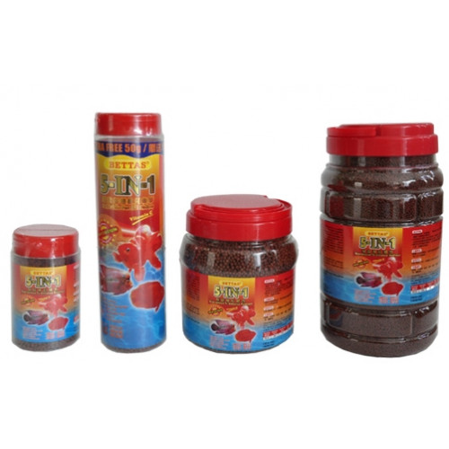 Bettas fish food 5 in 1 100gm for Food for betta fish